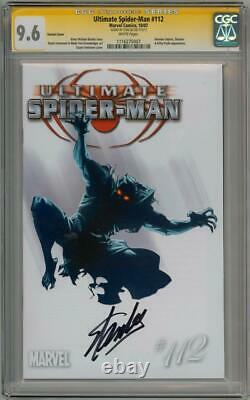 Ultimate Spider-man #112 Retail Variant Cgc 9.6 Signature Series Stan Lee Movie