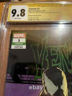 Venom #1 Rivera Variant Cgc 9.8 Signature Series Donny Cates Ryan Stegman Rare