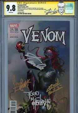 Venom 151 CGC 9.8 SS X4 Mattina cover Stan Lee McFarlane Michelinie Spider-Man