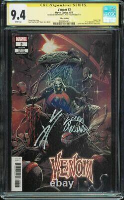 Venom #3 3rd print CGC 9.4 W SS Cates & Stegman 1st Knull signature series