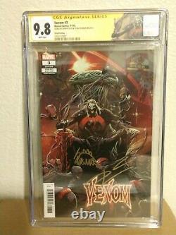 Venom 3 third print CGC 9.8 Signature Series signed Cates and Stegman. 1st Knull