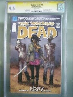 Walking Dead #19 CGC 9.6 SS Signed Charlie Adlard 1st app Michonne
