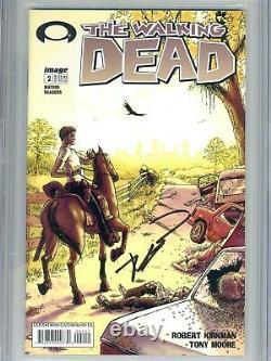 Walking Dead 2 CGC 9.6 SS 1st print Robert Kirkman Tony Moore AMC Zombies 1 3 WP