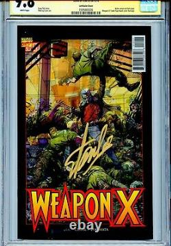Weapon X Vol 3 12 CGC 9.8 SS Lenticular BWS homage Stan Lee Sabretooth Domino WP