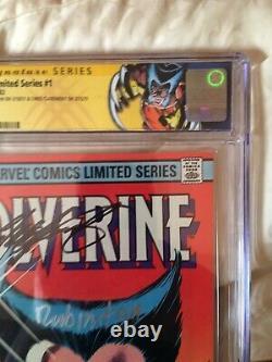 Wolverine 1 Signature Series CGC 9.8 SS X2 Claremont Rubinstein 1982 WP Signed