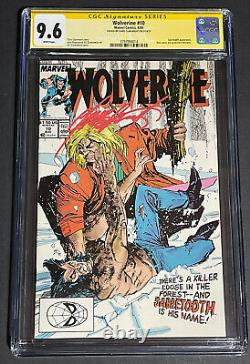 Wolverine 10 CGC 9.6 SS White Pages Signed Chris Claremont Sabretooth