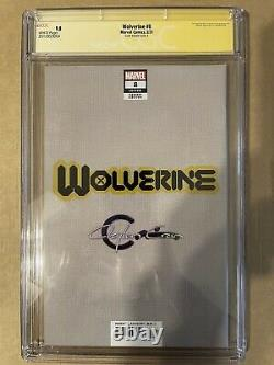 Wolverine #8 Signed By Clayton Crain CGC 9.8 Signature Series