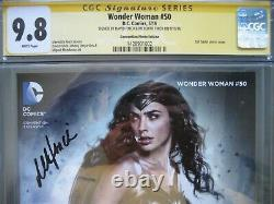 Wonder Woman #50 Gal Gadot Photo Cover CGC 9.8 SS Signed David & Meredith Finch