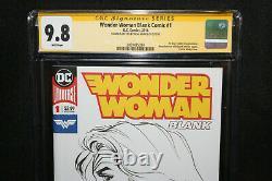 Wonder Woman Blank Comic #1 Neal Adams Sketch CGC Signature Series 9.8 2018