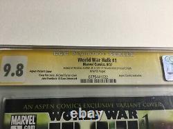 World War Hulk 1 Aspen Variant CGC 9.8 Signature Series Signed by Michael Turner