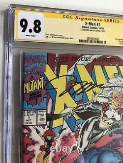 X-Men #1 CGC 9.8 White Pages Signature Series SS Signed Jim Lee 1991 Marvel