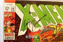 X-Men #55 Marvel 1969 CGC Signature Series signed by Roy Thomas CGC 8.0 VF