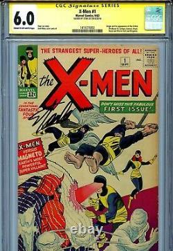 X-Men Vol 1 1 CGC 6.0 SS Stan Lee Uncanny Cyclops Jean Grey Iceman Angel Magneto