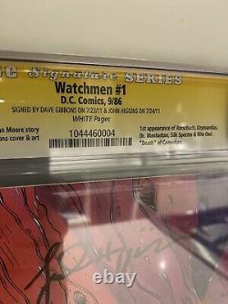 9.8 Série Signature De Cgc Ss Watchmen #1 Signé Par Dave Gibbons + John Higgins