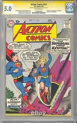 Action Comics #252 Al Plastino Signature Series 1ère Application Supergirl 1959 Cgc 5.0