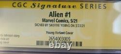 Alien #1 Skottie Young Signed Cgc Ss Signature Series 9.8 Young Variant 2021