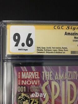 Amazing Spider-man #1 Alex Ross Variante 9.6 Cgc Stan Lee Signature Series