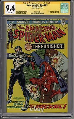 Amazing Spider-man #129 Cgc 9.4 Stan Lee Signature Series (w) 1er Punisher
