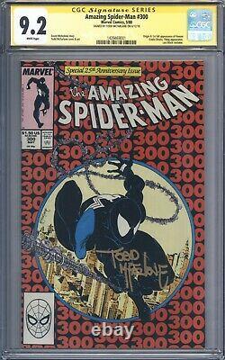 Amazing Spider-man #300 Vol 1 Cgc 9.2 Signature Series Todd Mcfarlane 1er Venin