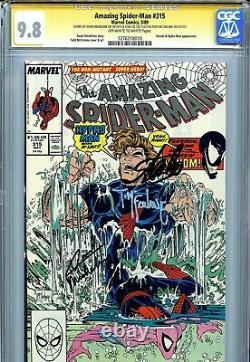 Amazing Spider-man 315 Cgc 9.8 Ss X3 Stan Lee Michelinie Todd Mcfarlane Venin
