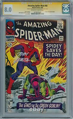 Amazing Spider-man #40 Cgc 8.0 Signature Series Signé Stan Lee John Romita Sr
