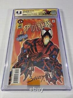 Amazing Spider-man #410 Cgc 9.8 Ss 1er Spider-carnage Signé Par Mark Bagley Rare