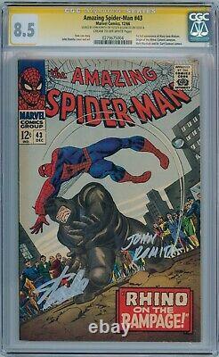 Amazing Spider-man #43 Cgc 8.5 Signature Series Signé Stan Lee John Romita Sr