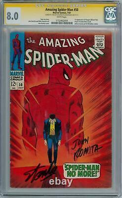 Amazing Spider-man 50 Cgc 8.0 Wp Signature Series Signé Stan Lee Romita Kingpin
