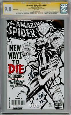 Amazing Spider-man #568 Variante Cgc 9.8 Série Signature Signée Stan Lee Romita