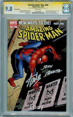 Amazing Spider-man #568 Variante Cgc 9.8 Signature Series Signé Stan Lee Romita