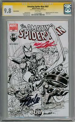 Amazing Spider-man #667 Variante Cgc 9.8 Série Signature Signée Stan Lee Adams