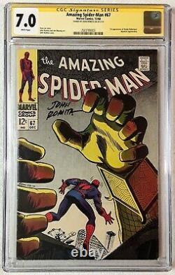 Amazing Spider-man #67 Cgc 7.0 Wp John Romita Signature Série 1968