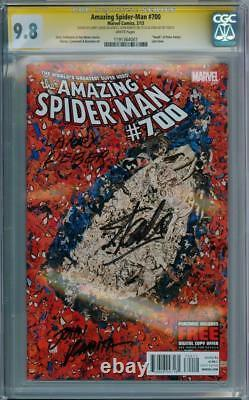 Amazing Spider-man #700 Cgc 9.8 Signature Series X3 Stan Lee Larry Lieber Romita
