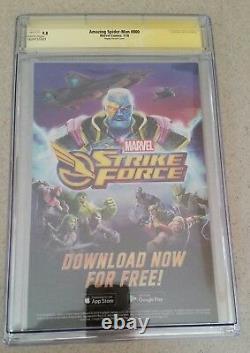 Amazing Spider-man #800 Cgc Ss Signature Series 9.8 Variante Mark Bagley