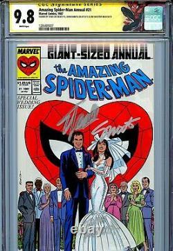 Amazing Spider-man Annuel 21 Cgc 9.8 Ss X3 Stan Lee Romita Shooter Mary Jane Wp