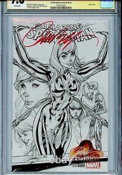 Amazing Spider-man Vol 4 15 Cgc 9.8 Ss X2 Stan Lee J Scott Campbell Couverture De Croquis