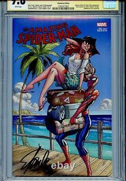Amazing Spider-man Vol 4 25 Cgc 9.8 Ss Stan Lee Slott Campbell Wondercon Variante