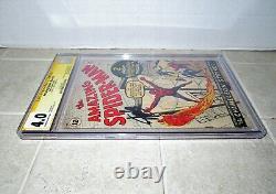 Amazing Spiderman #1 Cgc 4.0 Série De Signatures De 1963 Signée Stan Lee Unrestored