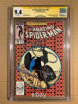Amazing Spiderman 300 Cgc 9.4 Nm Signature Series Mcfarlane Pages Blanches 1stvenom