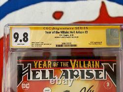 Année De La Villian Hell Arisen #3 Cgc 9.8 Série De Signature Ss
