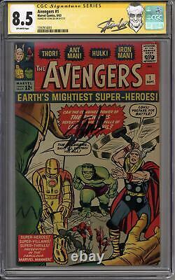 Avengers #1 Stan Lee Signature Series Cgc 8.5 (ow) Origine & 1ère Apparition