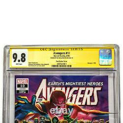 Avengers #10 Cgc 9.8 Ss Signature Series Signed Ed Mcguiness Variante Cover Aross
