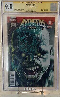 Avengers #684 Cgc 9.8 Série De Signatures Comic Book Signed Sketch Immortal Hulk