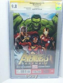 Avengers Assemble #10 Cgc 9.8 Signature Series Stan Lee