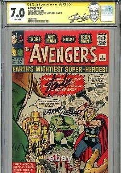 Avengers Vol 1 1 Cgc 7.0 Ss X3 Stan Lee Lieber Dyers Hulk Thor Iron Man Ant-man