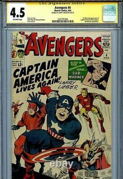 Avengers Vol 1 4 Cgc 4.5 Ss 1er Silver Age Captain America Iron Man Thor Lieber