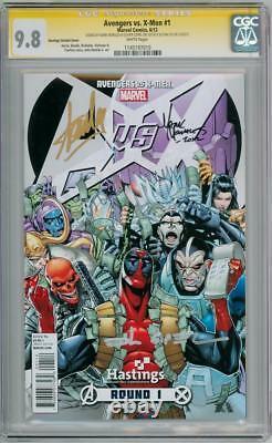 Avengers Vs X-men 1 Variant De Dépôt Cgc 9.8 Série De Signature Signée X3 Tranche