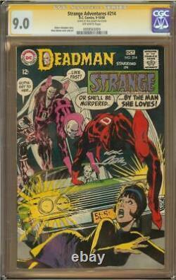 Aventures Étranges #214 Cgc 9.0 Série Signature Neal Adams Deadman