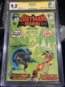Batman 232 Cgc Série De Signatures Signées 6/71 Neal Adams 9.2 Pages Blanches