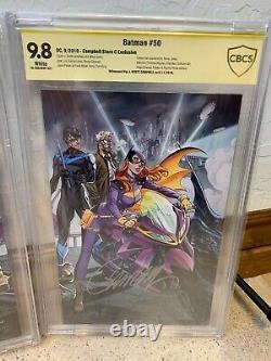 Batman #50 Série De Signatures Ss Du Scs 9.8 Signé J. Scott Campbell Hors Comic Cgc